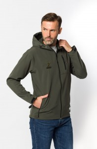 Kurtka SOFTSHELL FISHING z kapturem  (1)